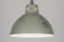 bekijk hanglamp-72190-retro-industrie-look-metaal-grijs-groen-rond