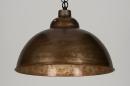 bekijk hanglamp-72195-industrie-look-roest-bruin-brons-metaal-rond