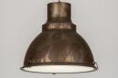 bekijk hanglamp-72200-modern-retro-industrie-look-roest-bruin-brons-metaal-rond