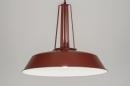 bekijk hanglamp-72202-modern-retro-industrie-look-glas-mat_glas-metaal-rood-rond