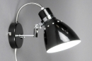 bekijk wandlamp-80722-modern-retro-zwart-glans-metaal-rond
