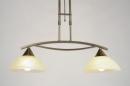 bekijk hanglamp-81921-klassiek-brons_roest_bruin-roest-bruin-brons-glas-zacht_geel-metaal-rond-langwerpig