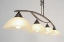 bekijk hanglamp-81923-klassiek-roest-bruin-brons-glas-zacht_geel-metaal-rond-langwerpig