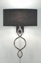 bekijk wandlamp-84199-modern-zwart-stof-ovaal