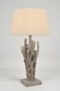 bekijk tafellamp-85475-klassiek-stof-bruin-creme-rond