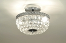 bekijk plafondlamp-85637-klassiek-metaal-chroom-kristal-kristalglas-rond