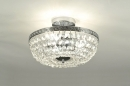 bekijk plafondlamp-85638-klassiek-retro-metaal-chroom-kristal-kristalglas-rond