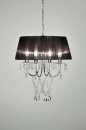 bekijk hanglamp-86054-zwart-kristal-kristalglas-metaal-stof-rond