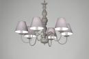 bekijk hanglamp-86228-klassiek-metaal-stof-grijs-rond