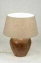 bekijk tafellamp-88386-klassiek-keramiek-stof-bruin-rond