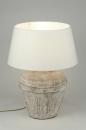 bekijk tafellamp-88387-modern-klassiek-roestbrons-bruin-wit-rond
