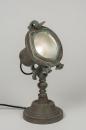 bekijk tafellamp-88446-retro-industrie-look-glas-metaal-groen-rond