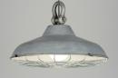 bekijk hanglamp-89167-modern-retro-industrie-look-metaal-grijs-rond