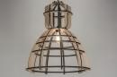 bekijk hanglamp-89288-modern-design-industrie-look-zwart-hout-rond