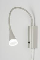 wandlamp 10015: modern, glas, mat glas, metaal