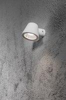 wandlamp 10044: industrie, look, aluminium, wit