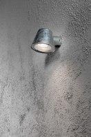 wandlamp 10046: industrie, look, aluminium