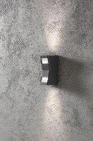 wandlamp 10055: modern, aluminium, antraciet, grijs