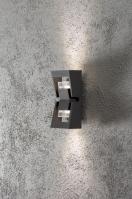 wandlamp 10057: modern, antraciet donkergrijs, grijs, aluminium