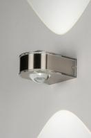 wandlamp 10087: modern, glas, staal rvs