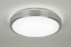 plafondlamp 10103: modern, wit, kunststof, rond