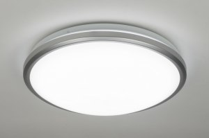 plafondlamp 10111: kunststof, wit, rond