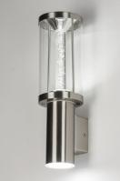 wandlamp 10160: modern, staal , rvs