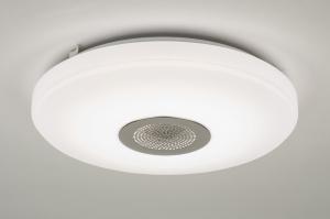 plafondlamp 10170: modern, wit, kunststof, rond