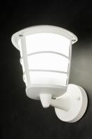 wandlamp 10173: kunststof, metaal, wit, mat