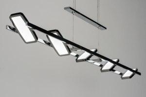 hanglamp 10258: modern, design, metaal, langwerpig