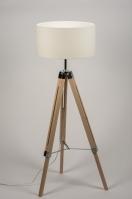 vloerlamp 10304: modern, retro, wit, hout