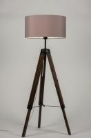 vloerlamp 10305: modern, retro, taupe, hout
