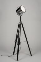 vloerlamp 10385: modern, industrie, look, zwart