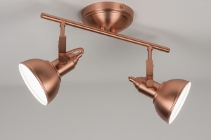 plafondlamp 10439: metaal, rond, langwerpig