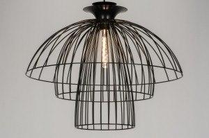 hanglamp 10458: modern, metaal, zwart, mat
