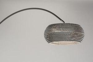 vloerlamp 10684: modern, antraciet donkergrijs, staalgrijs, metaal