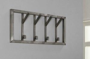 kapstok 10702: modern, stoere lampen raw, gunmetal (oldmetal), oldmetal (gunmetal)