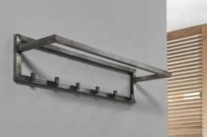 kapstok 10704: modern, stoere lampen raw, gunmetal (oldmetal), oldmetal (gunmetal)