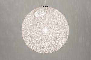 hanglamp 10757: modern, retro, kunststof, creme