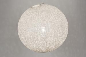 hanglamp 10759: modern, retro, kunststof, creme