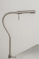 tafellamp 10842: modern, landelijk, rustiek, staalgrijs