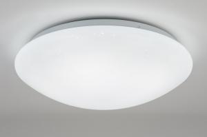 plafondlamp 10867: wit, kunststof, rond