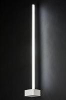 wandlamp 10907: modern, design, wit, mat