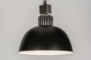 hanglamp 10916: industrie, look, staalgrijs, metaal