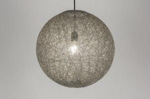 hanglamp 10947: modern, retro, grijs, kunststof