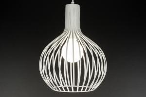 hanglamp 10950: modern, landelijk, rustiek, wit