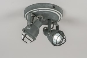 plafondlamp 10967: retro, industrie, look, metaal