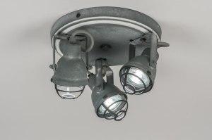 plafondlamp 10968: retro, industrie, look, metaal