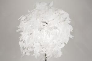 vloerlamp 11012: modern, wit, metaal, stof