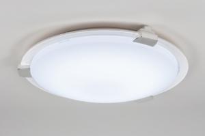 plafondlamp 11026: modern, design, wit, kunststof